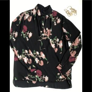 Floral Blouse with twisted neck by Vince